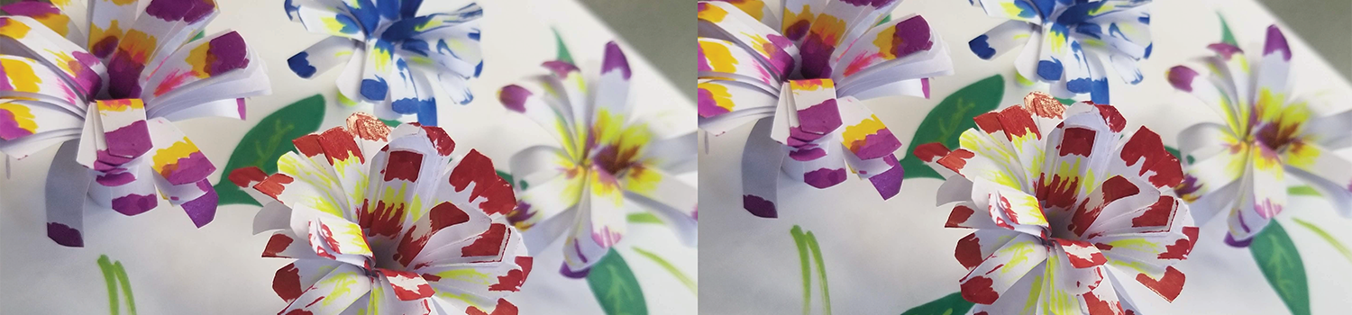 Photo of 3D Flower Card Completed Project