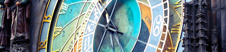 Astrological mechanical clock