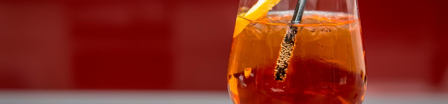 Iced tea in a wine glass