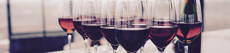 Full glasses of wine